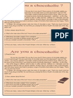 Atividade de Ingles - Texto Do Chocolate