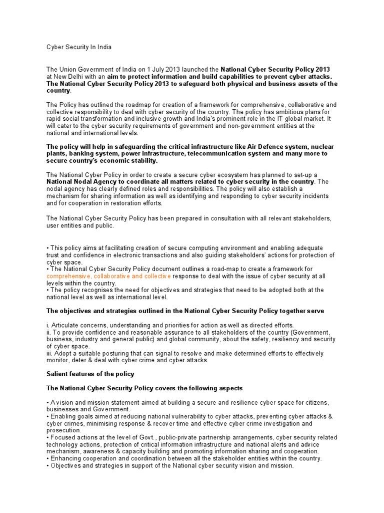 Cyber Security in India | Computer Security | Seguridad y privacidad