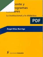 El Docente y Los Programas Escolares