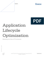 Application Lifecycle Optimization
