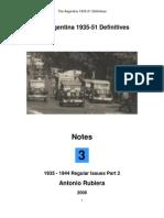 2008 Notes No. 3 Argentina 1935-51 Definitives