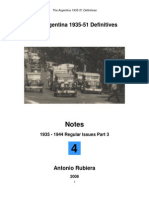 2008 Notes No. 4 Argentina 1935-51 Definitives
