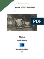 2008 Notes No. 10 Argentina 1935-51 Definitives