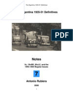 2008 Notes No. 7 Argentina 1935-51 Definitives