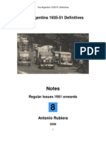 2008 Notes No. 8 Argentina 1935-51 Definitives