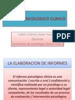 INFORME PSICOLOGICO CLINICO