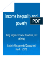Lez Management of Dev Income Inequality and Poverty, 14 Marzo 2012