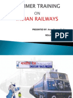 Arun Kumar Ppt on Indian Railway