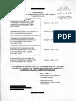 Motion Declaratory Judgement 131002