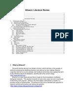 Ethanol Literature Review