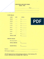 OUES Cash Check Receipt Form
