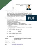 Curriculumhector Rolando Quispe 20111
