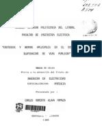 Tesis. Criterios y normas aplicables en el diseño de iluminación de vías públicas.