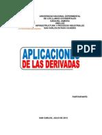 APLICACIÓN DE LAS DERIVADAS (UNELLEZ-PÁEZ)