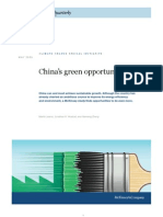 China's green opportunity
