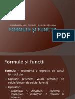 Formule Si Functii
