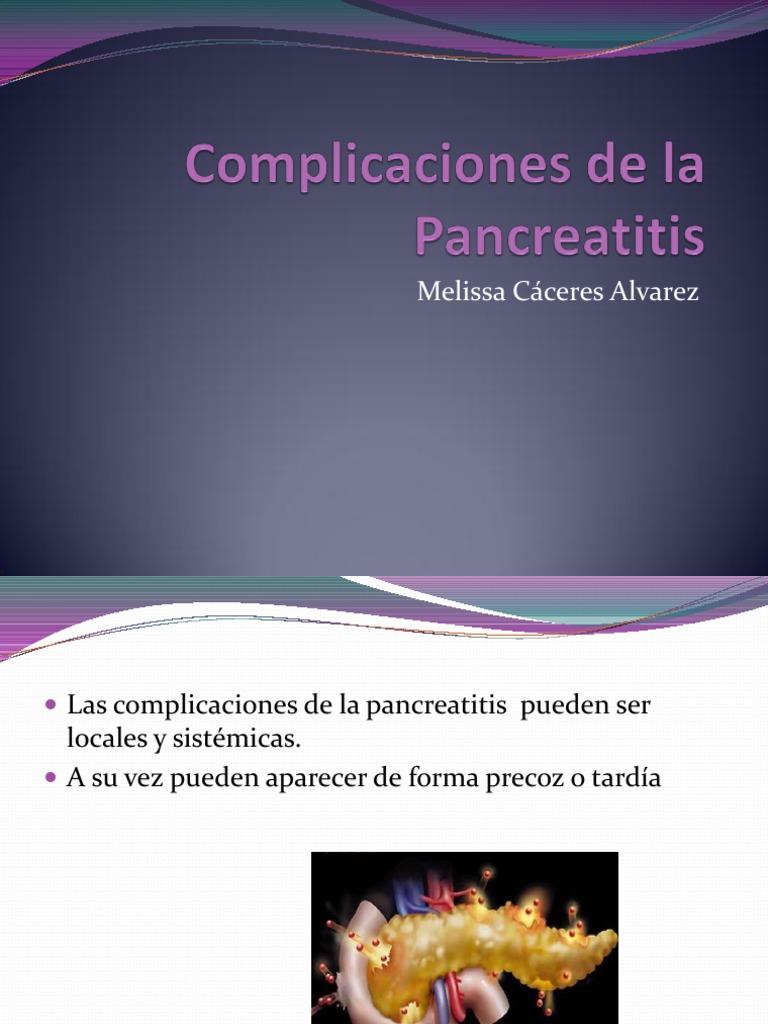 tratamiento de la pancreatitis por trombosis de la vena porta