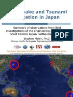 United Efforts by the Tohoku Japan Mahin Earthquake and Tsunami Mitigation