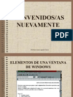 Elementos de Una Ventana de Windows 98