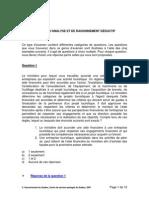 Exemples de Questions Sur Internet ARDP Et ARDT
