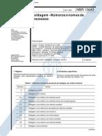 NBR 13043 - Soldagem - Numeros e Nomes de Processos