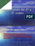 Reacciones de 2º y 3º orden