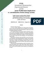 ITER Proliferation Implications