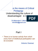 Folklore and Critical Pedagogy Understanding the Culture of Disadvantaged in India