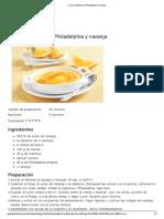 Crema Catalana de Philadelphia y Naranja