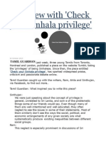 Interview With 'Check Your Sinhala Privilege'