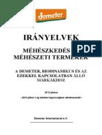 Demeter méhészeti irányelvek-DI bee stds-2012HUN