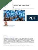 Gwynne Dyer  Greek raid lesson from Germany's past