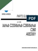 Konica Minolta Bizhub C220 C280 C360 parts catalog