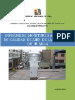 Informe Monitoreo Calidad Aire 2009 HUARA