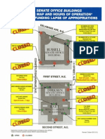 Senate Office Building Door Map During Lapse of Funding