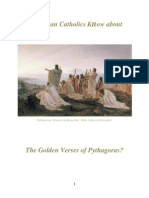 Do RCs Know About the Golden Verses of Pythagoras?