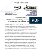 AMRDEC JMR TIA Announcement 2 Oct 2013 Press Release Final