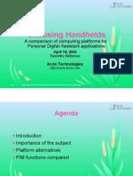 Choosing Handhelds - Slides 1pp