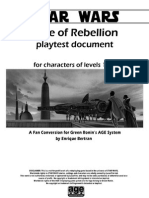 Playtest Age of Rebellion
