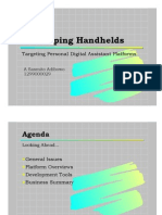 Developing Handhelds - Slides 1pp