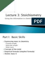 Lecture 3 Stoichiometry