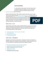 Pasos Para Crear Un Blog en Wordpress