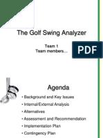 Golf Swing Analyzer Sample Presentation