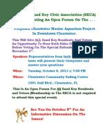 Sand Key Civic Association's October 8th Forum