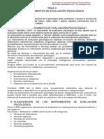 Tema 3 Instrumentos Evaluacion Psicologica