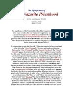The Nazarite Priesthood
