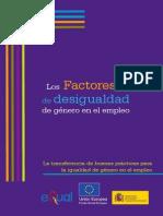 FACTORES DE DESIGUALDAD DE GÉNERO