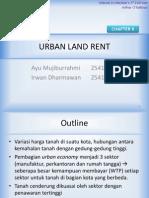 Urban Land Rent