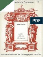 Textos Humanísticos Portugueses, 8 - Santoro, Mario - Amato Lusitano ed Ancona (1991)