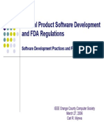 Medical Product Software Development and FDA Regulations4008